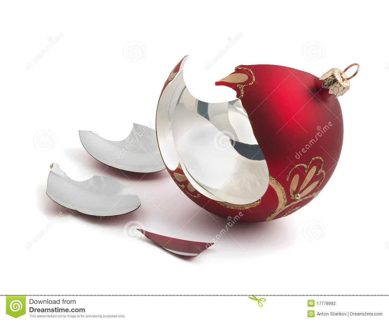 Broken Christmas Ball Stock Photography Image 17778992