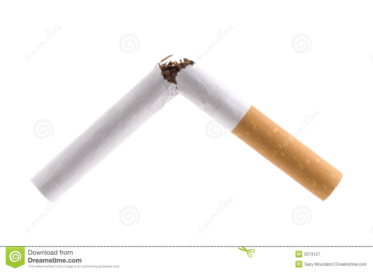 Broken Cigarette Royalty Free Stock Photography Image