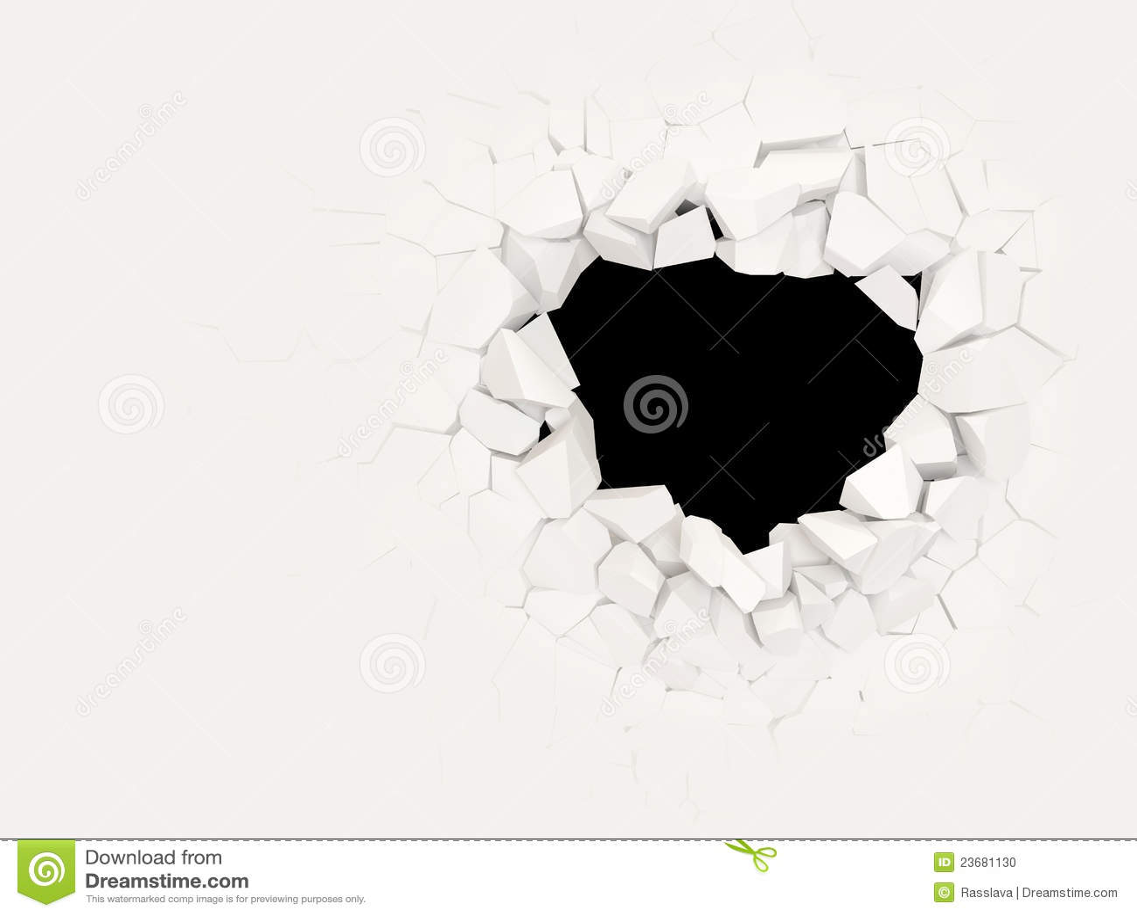 Broken Concrete Wall Stock Photo Image 23681130