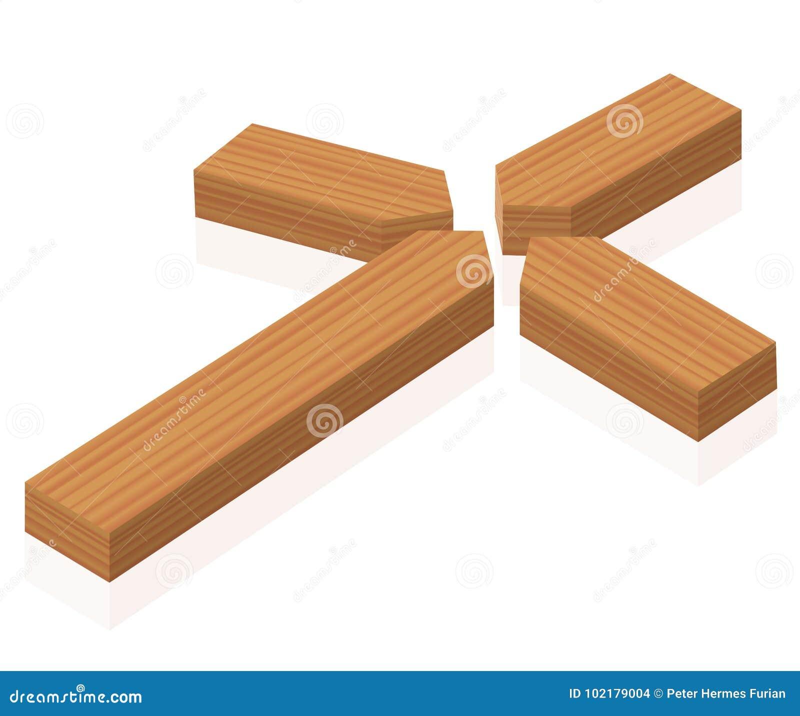 Broken Cross Christian Symbol Stock Vector Illustration Of