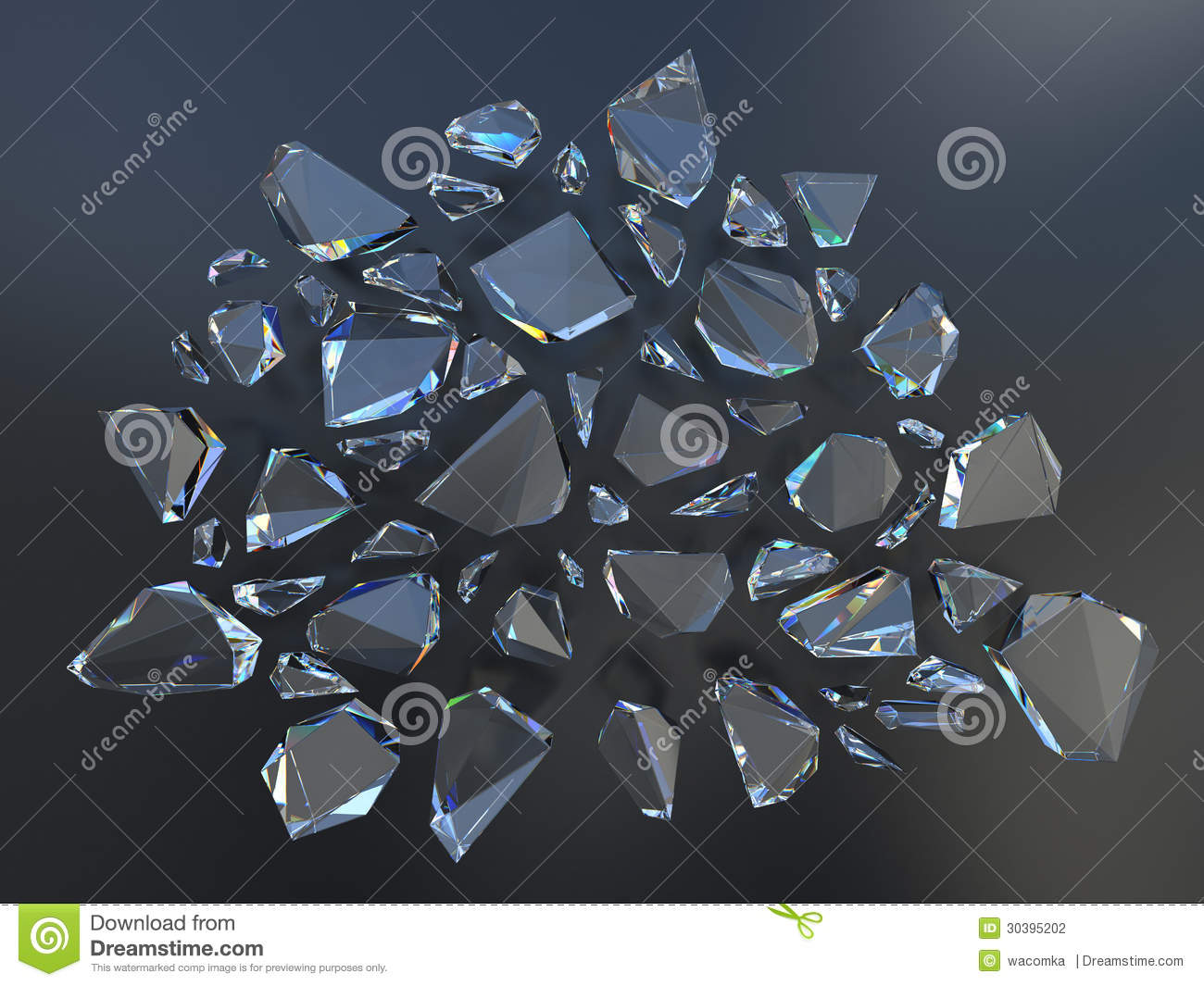 Broken Crystal Background Stock Photography - Image: 30395202