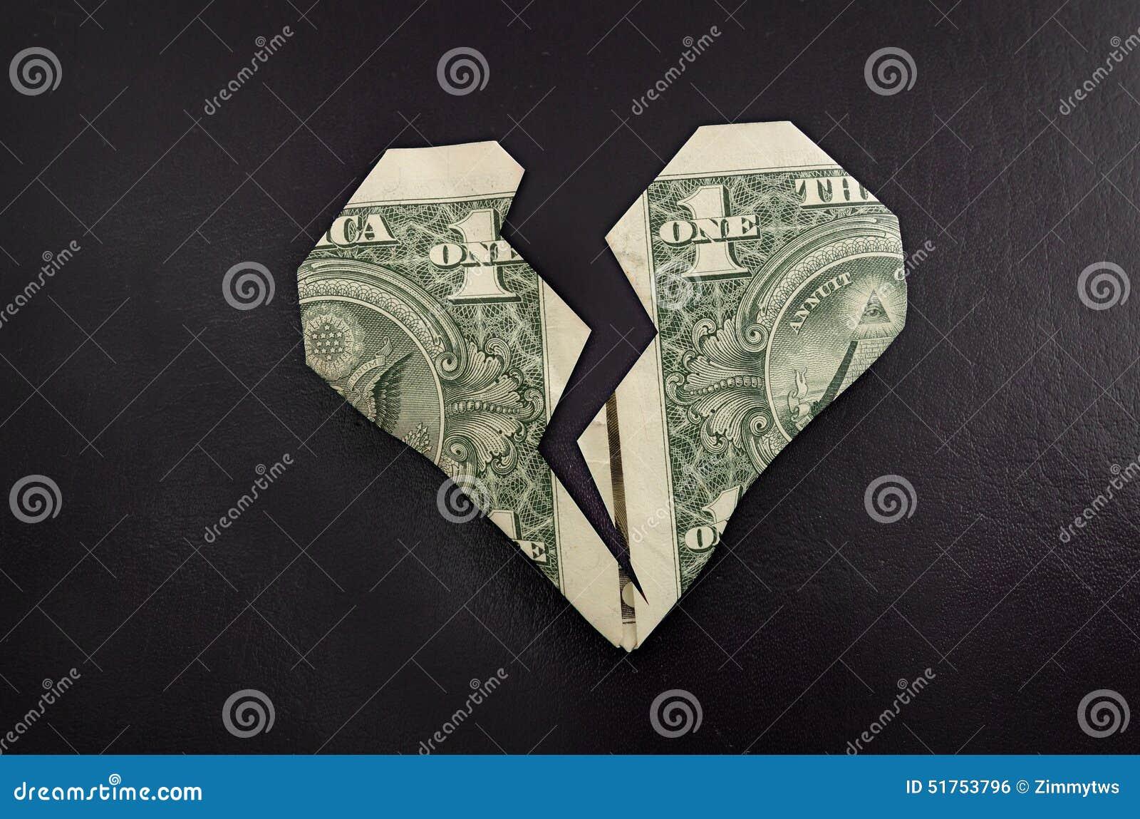 Broken dollar heart stock photo image of love broken 51753796 broken dollar heart jeuxipadfo Images