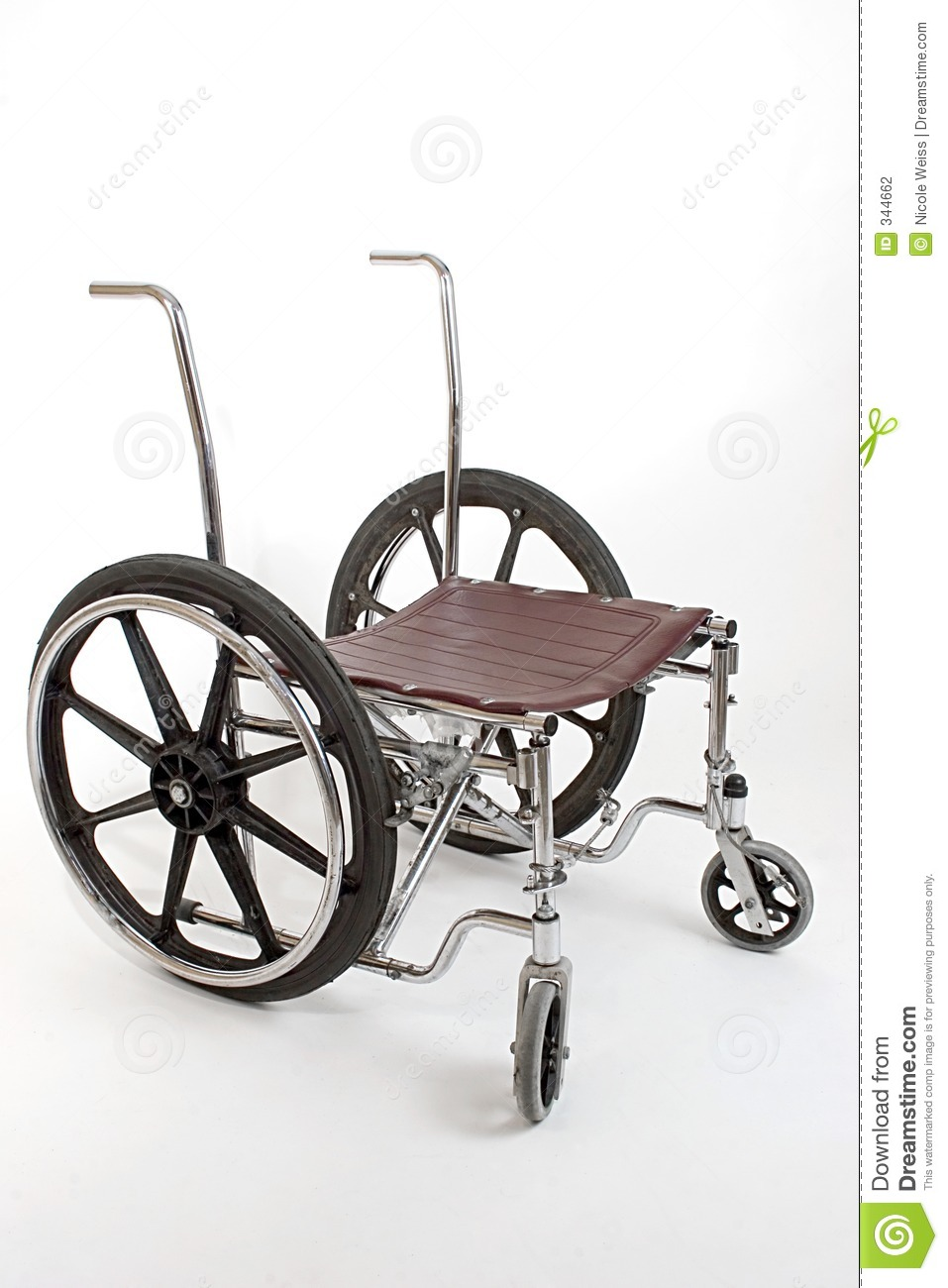 Broken Down Car With Warning Triangle Royalty Free Stock: Broken Down Wheelchair Stock Photography