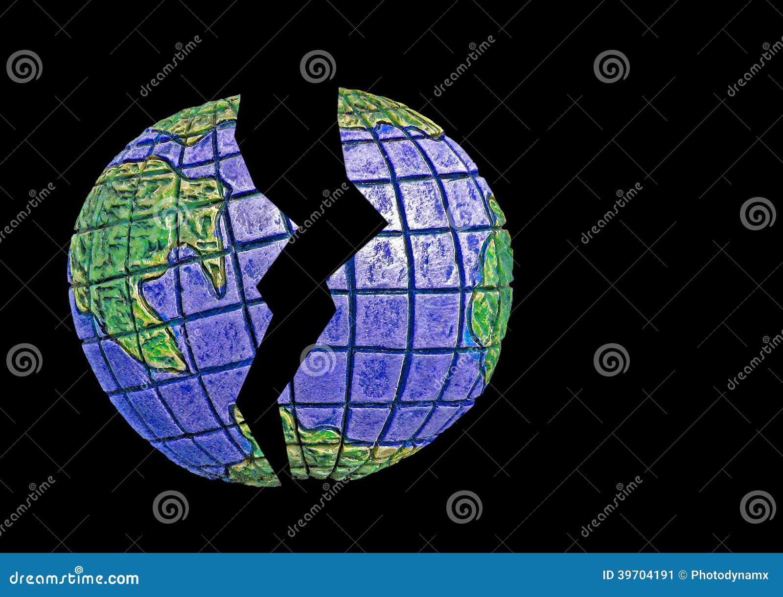 Broken Earth Stock Photo Image 39704191