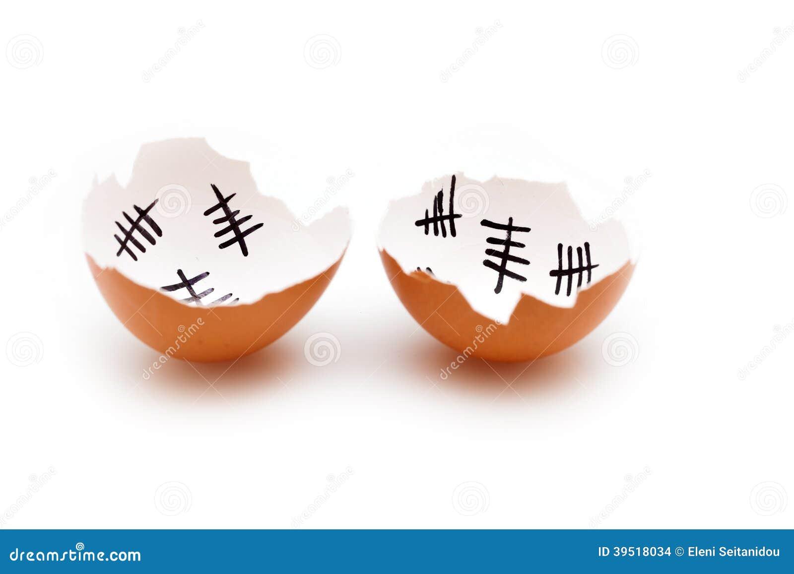 how to make egg shells white