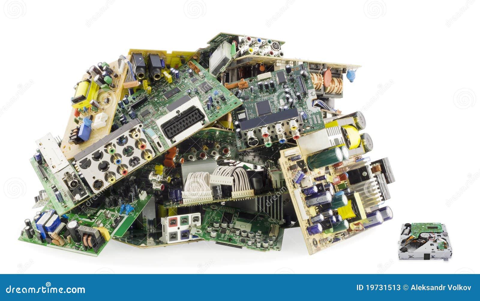Broken Electronics On A Garbage Dump Stock Photos Image