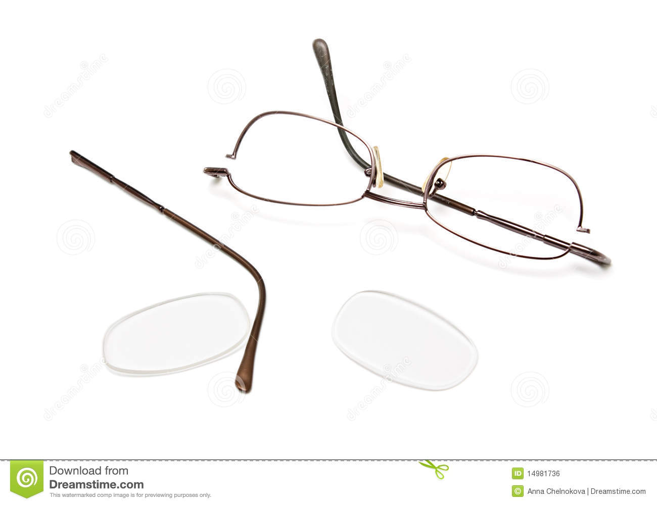 Glasses Frames Broken : Broken Eyeglasses Royalty Free Stock Image - Image: 14981736