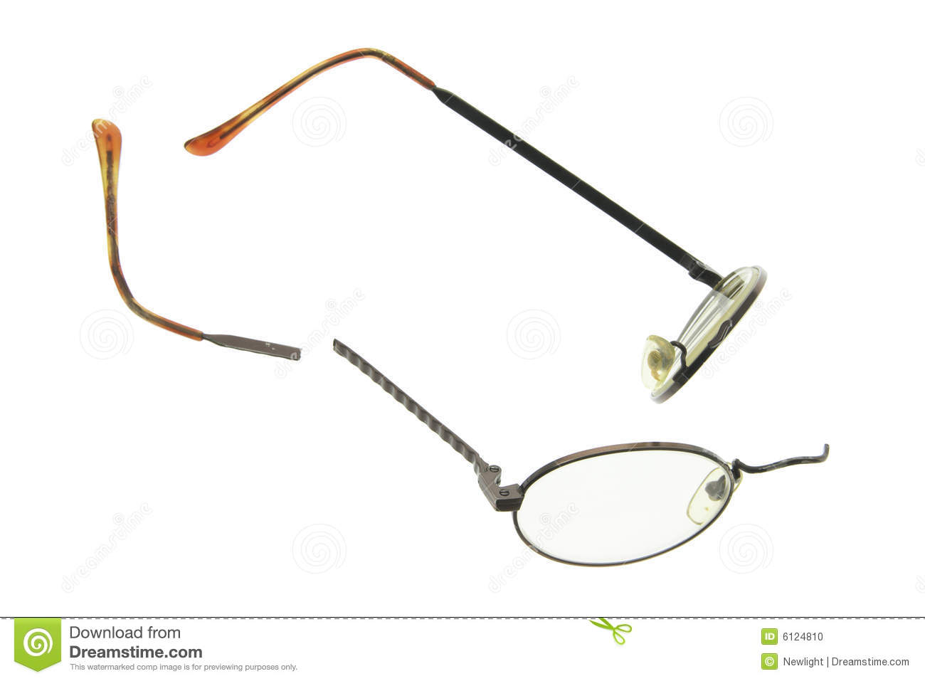 Glasses Frames Broken : Broken Eyeglasses Stock Photo - Image: 6124810