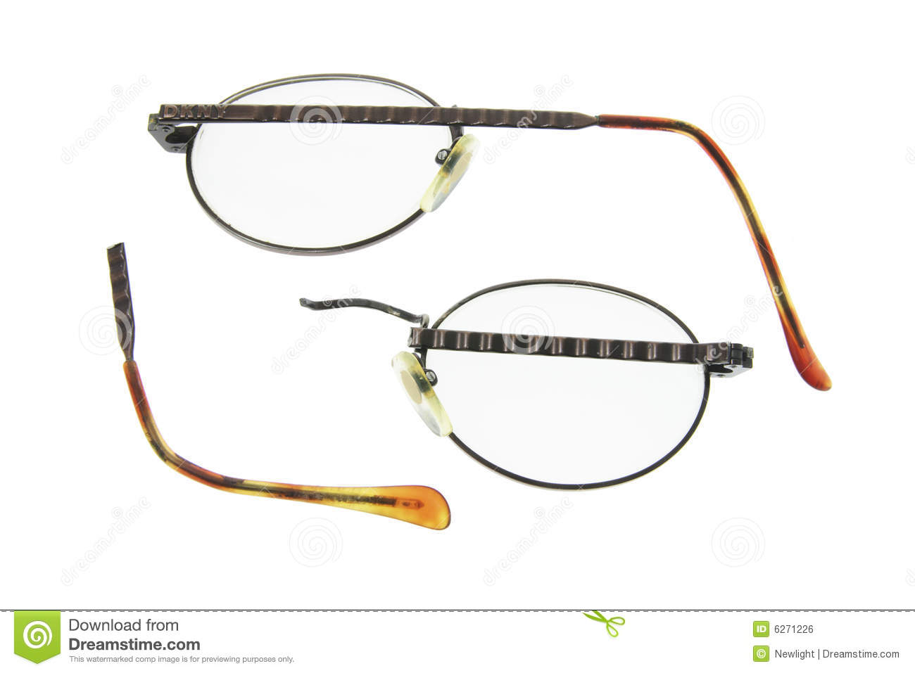 Glasses Frames Broken : Broken Eyeglasses Royalty Free Stock Image - Image: 6271226
