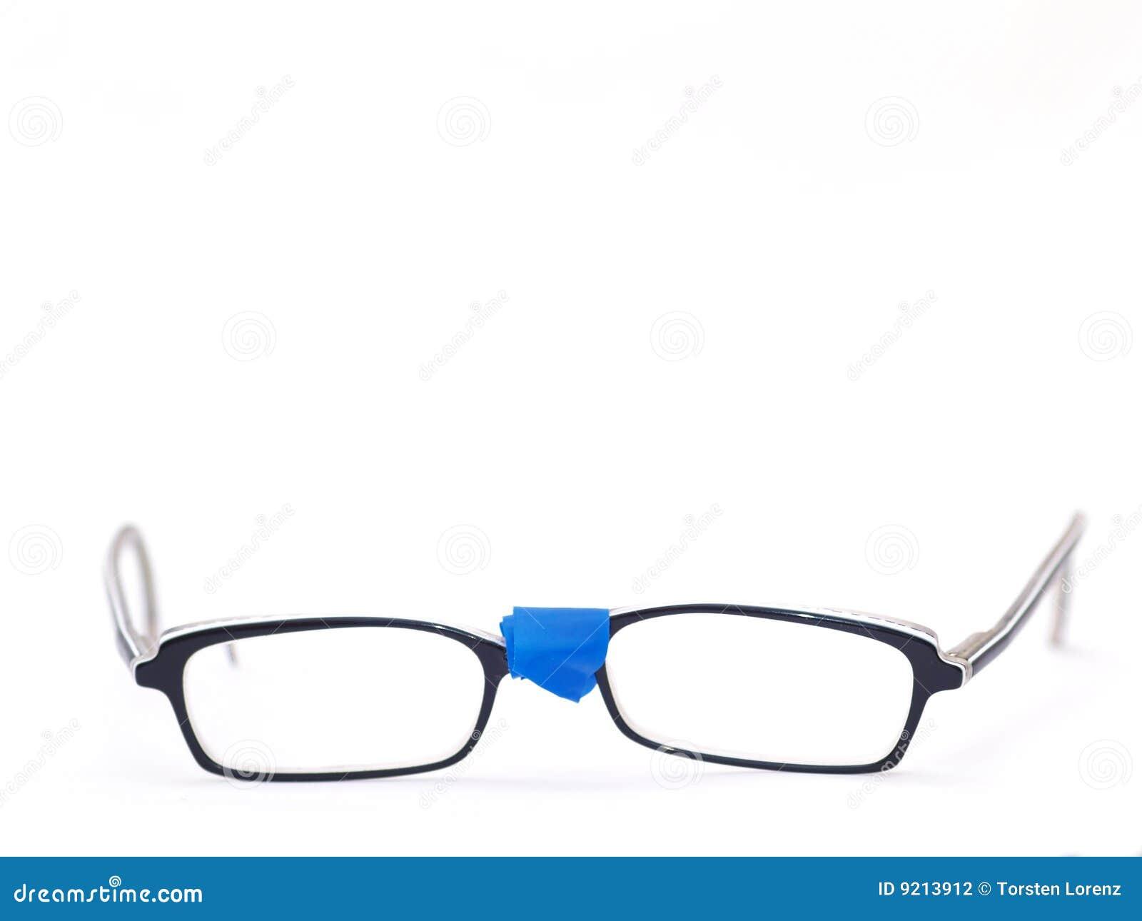 Broken eyeglasses stock photo. Image of destroyed, repaired - 9213912