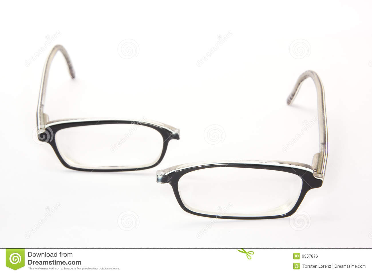 Broken Eyeglasses Royalty Free Stock Image - Image: 9357876