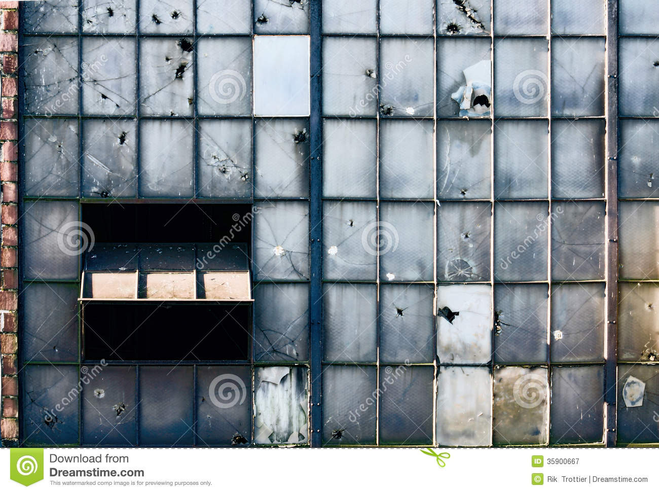 Broken factory windows royalty free stock photography for Window factory