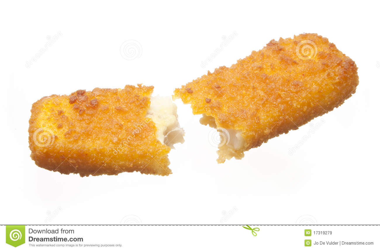 Broken fish stick stock image image of stick fishfinger for Fish on a stick