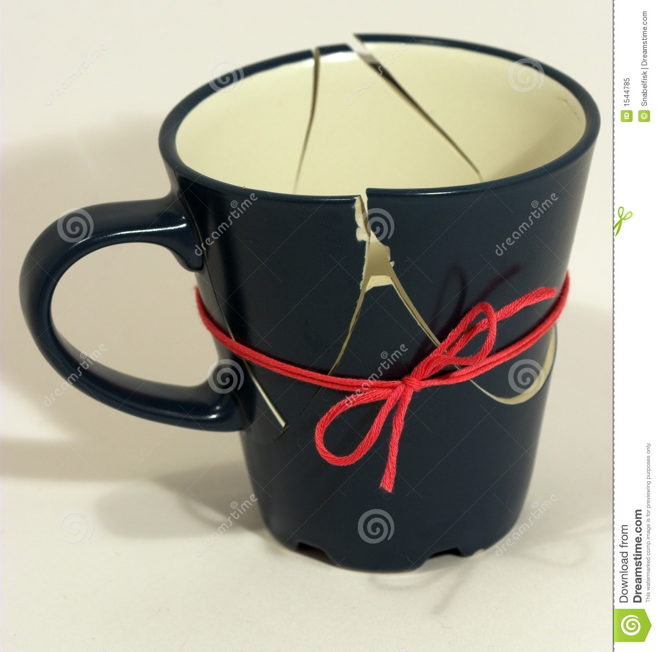 Broken Fixed Now Coffee Cup Royalty Free Stock Photo