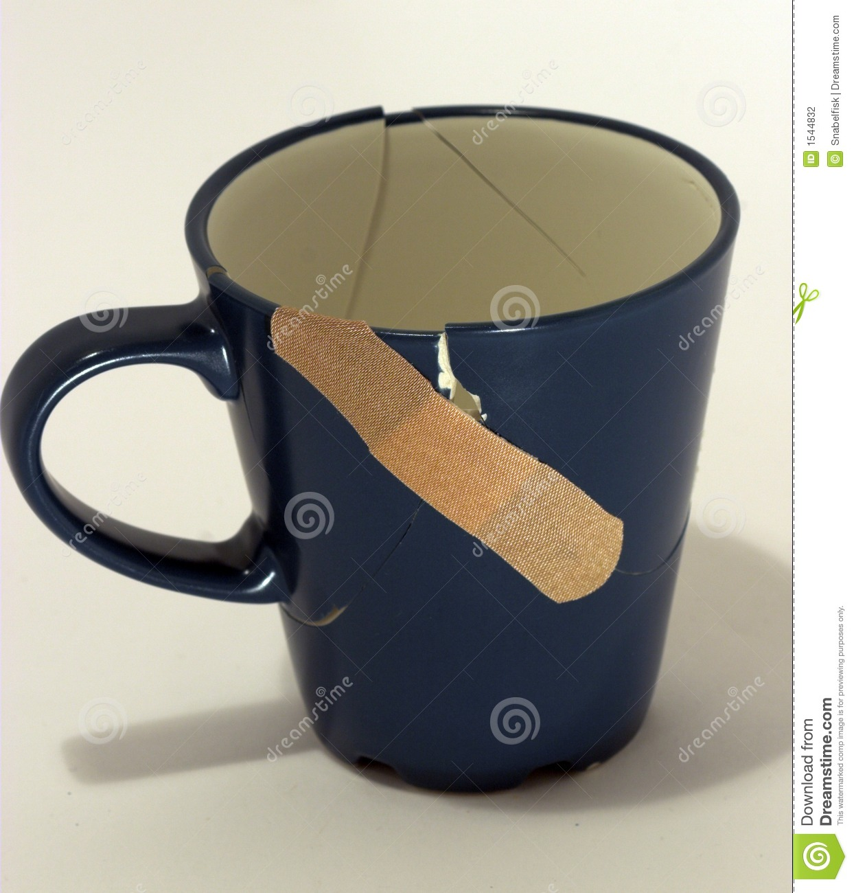 Broken Fixed Now Coffee Cup Stock Photo Image 1544832