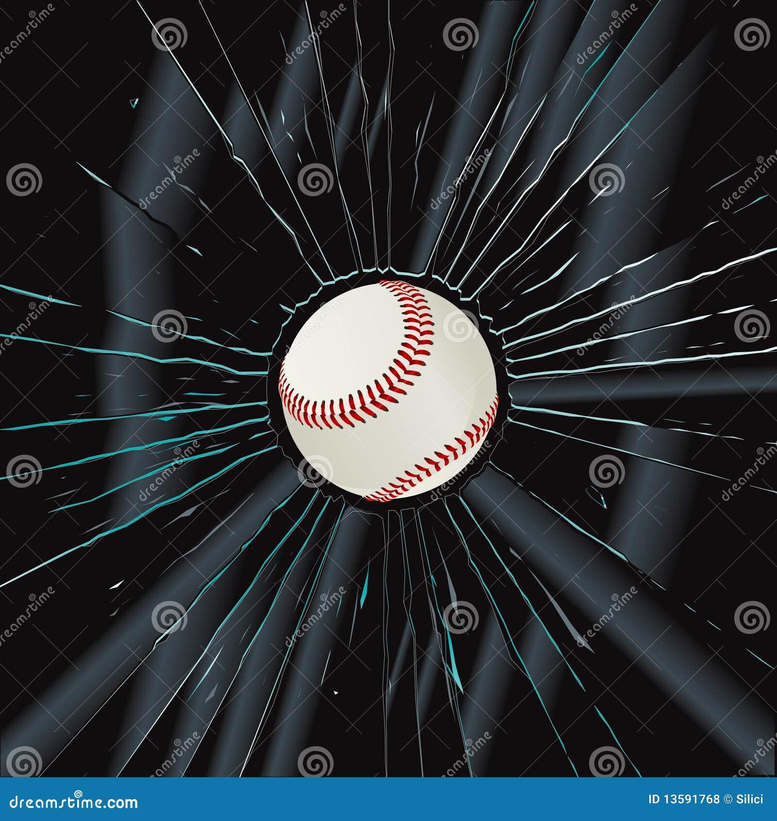 Broken glass 2 baseball stock vector image of compete for Glass 2 glass