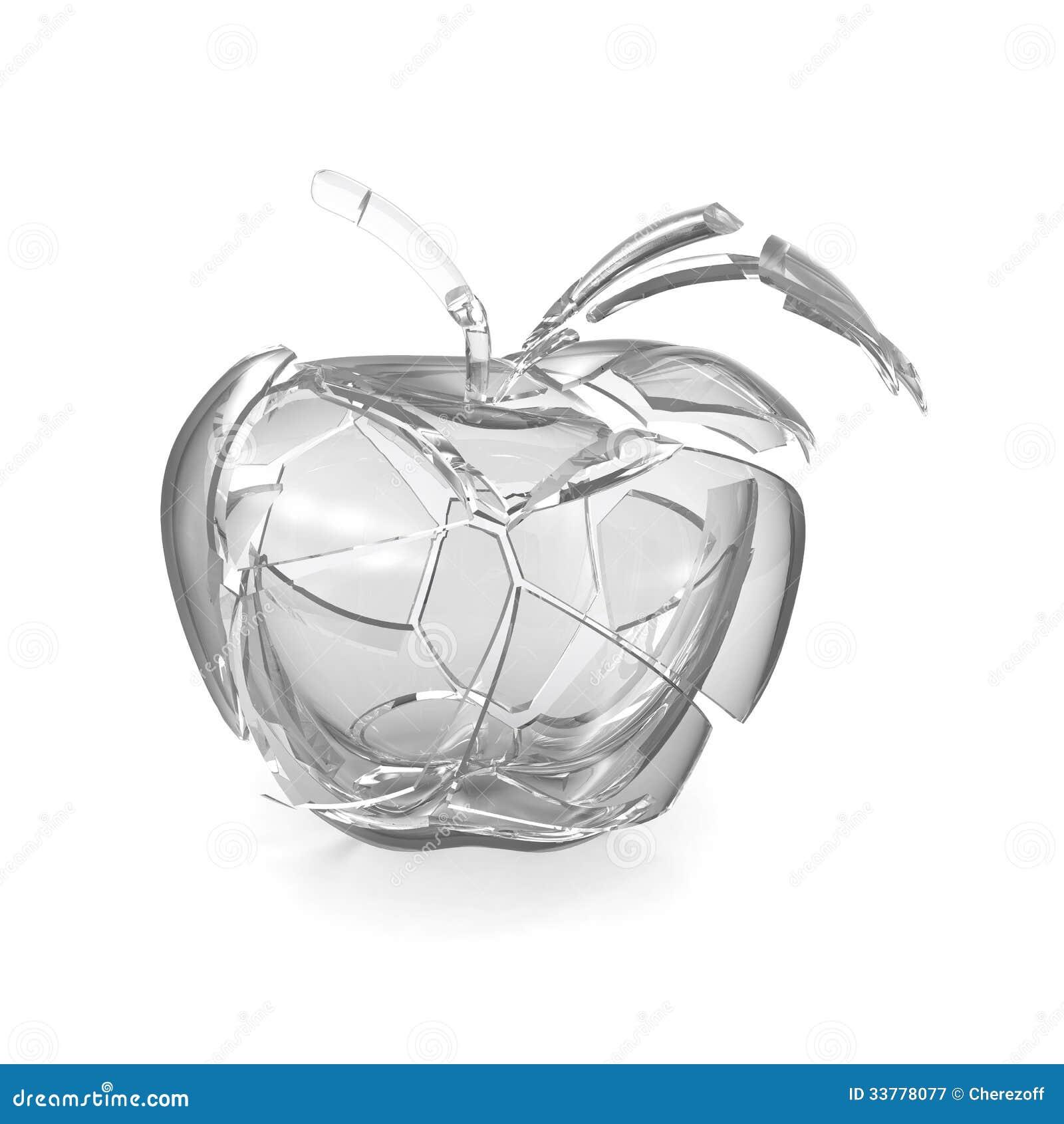 broken glass apple stock illustration image of ecology 33778077. Black Bedroom Furniture Sets. Home Design Ideas