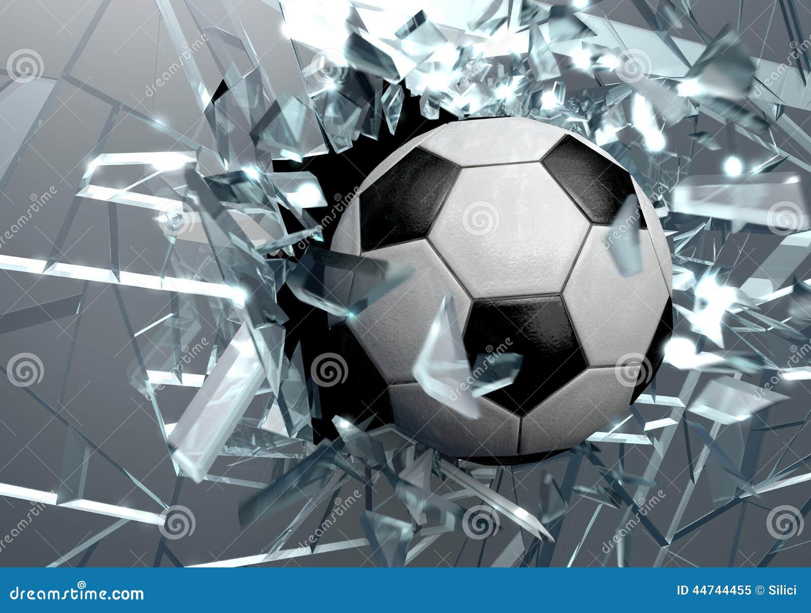 Broken glass 3d soccer ball stock illustration image for 3 dimensional drawing software