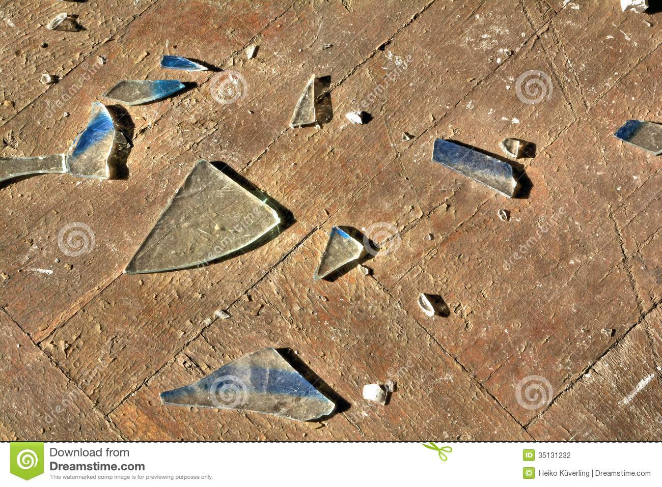 Broken glass on a floor stock photography image 35131232 for On the floor on the floor