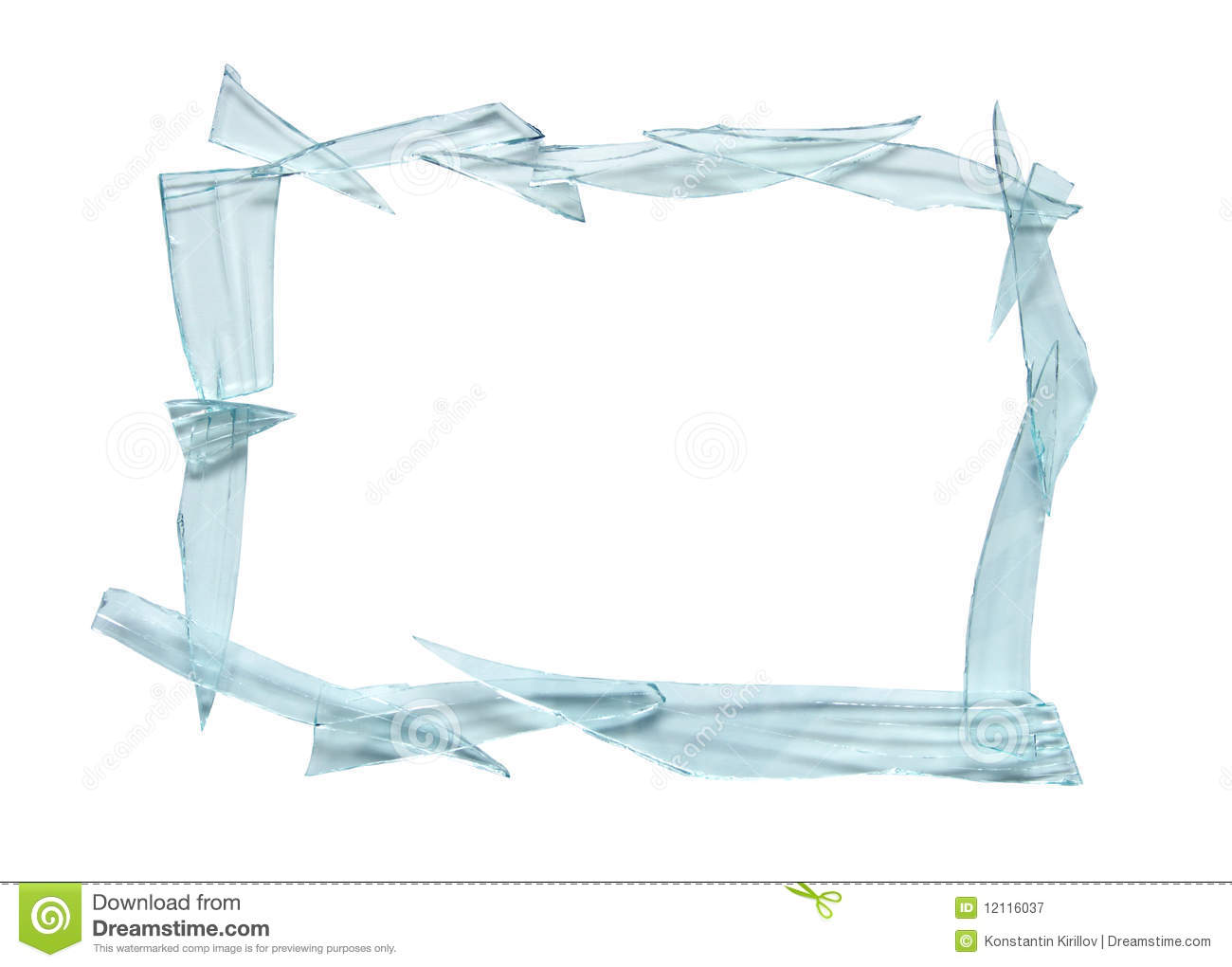 Broken Glass Frame Png
