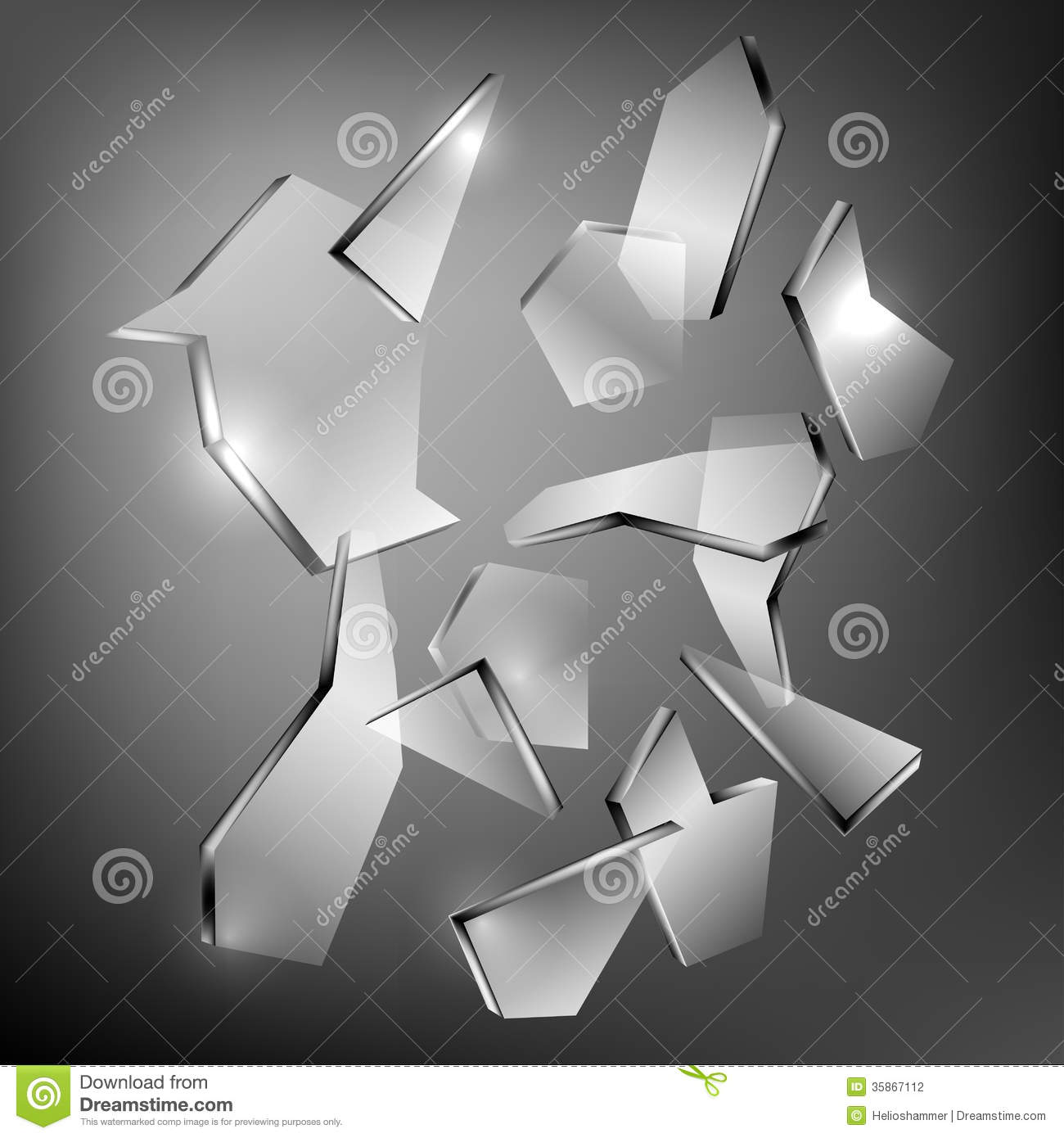 Broken glass stock vector image of prevention glass for What to do with broken mirror pieces