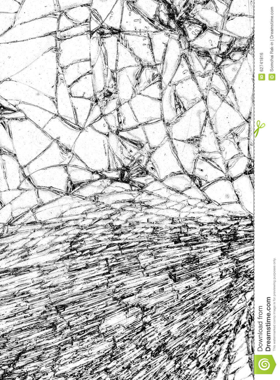 Broken Glass Texture, Cracked In The Glass. Stock Illustration ...