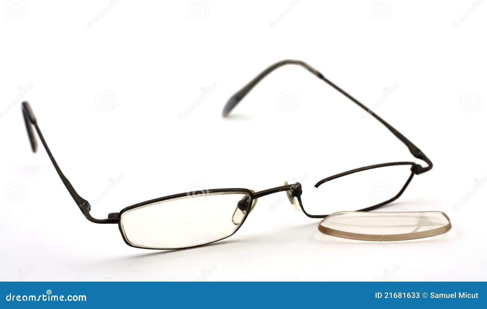 Glasses Frame Cracked : Broken Glasses Stock Photos - Image: 21681633