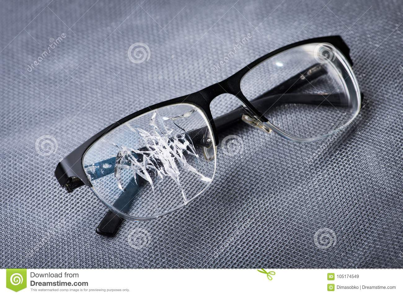 Broken Glasses On A Metal Background Stock Image - Image of cracked ...