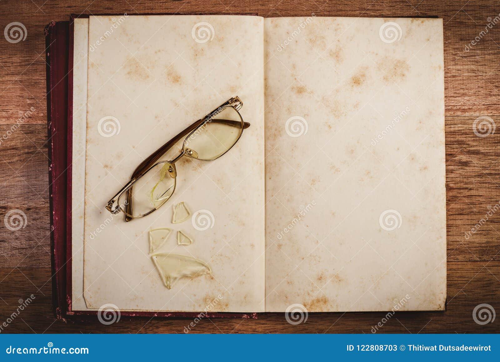 Book broken open