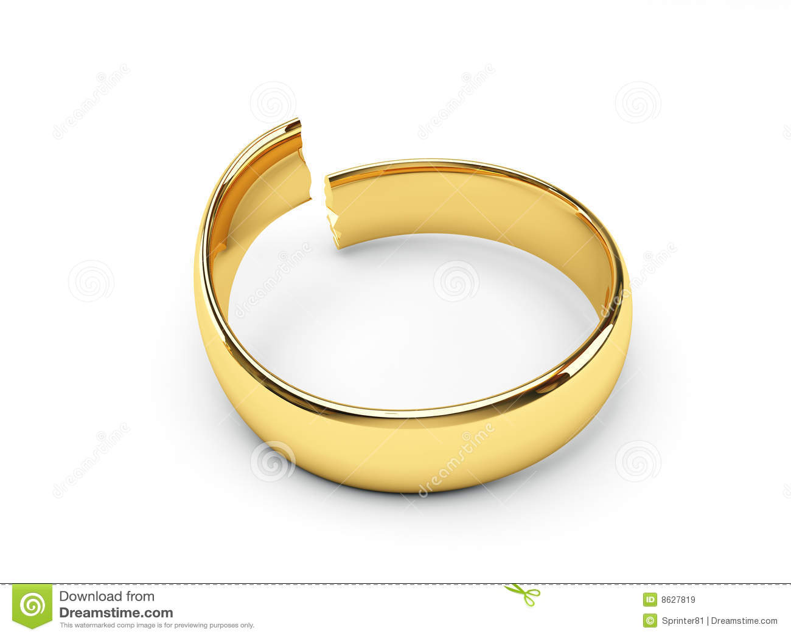Engagement Ring Broken Band