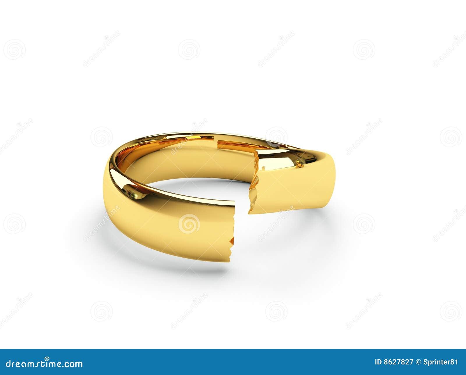 Broken Wedding Ring Vector
