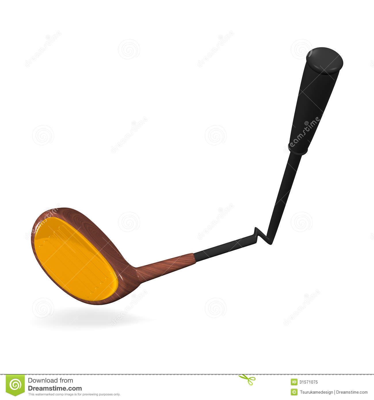 Broken Golf Club Royalty Free Stock Photo - Image: 31571075
