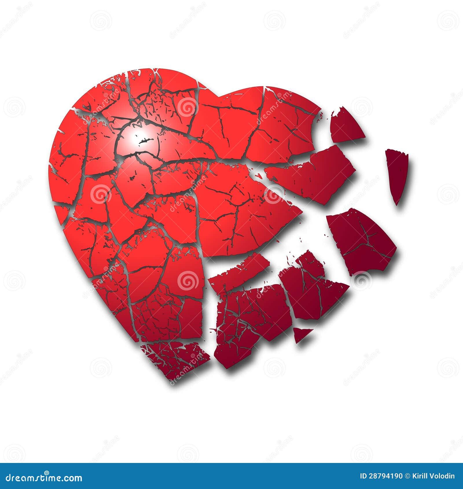 心形心碎图片大全_Vector broken heart with detailed cracks ...