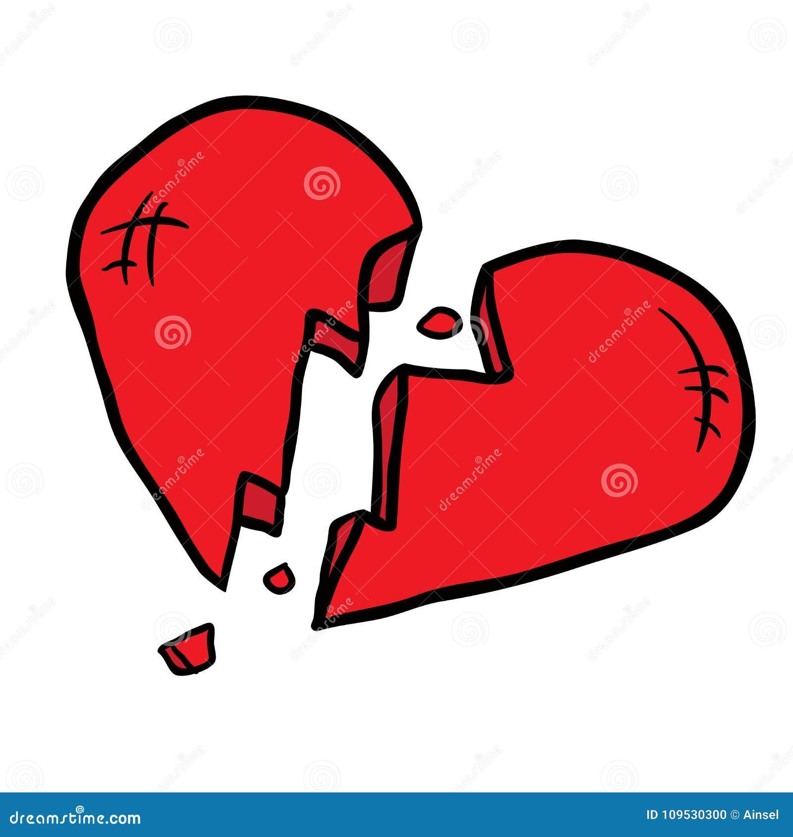broken heart stock illustration illustration of date 109530300 rh dreamstime com cartoon broken heart pic cartoon broken heart video