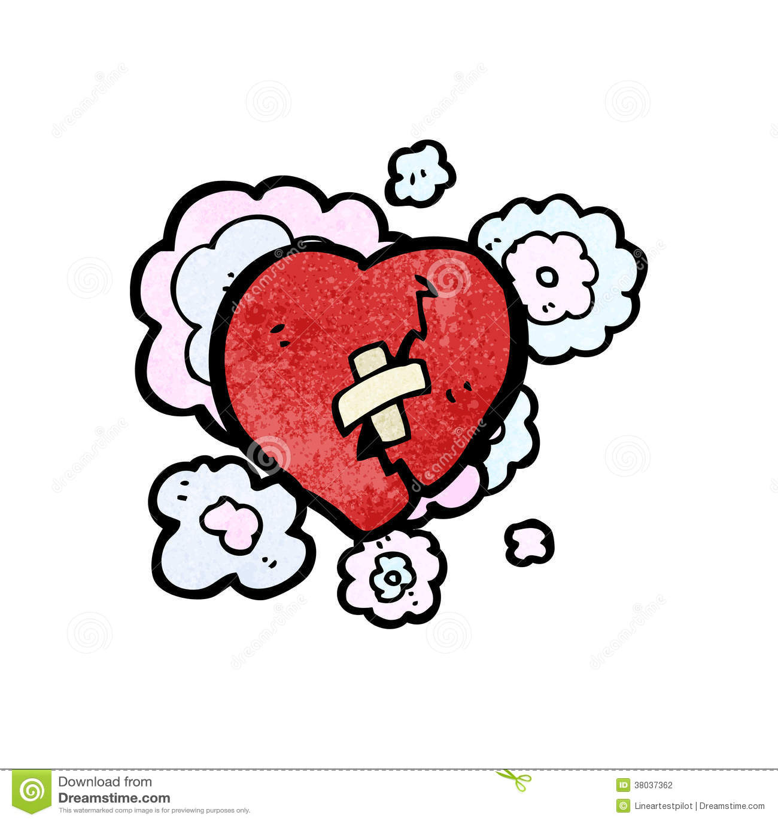 broken heart cartoon stock vector image of cute