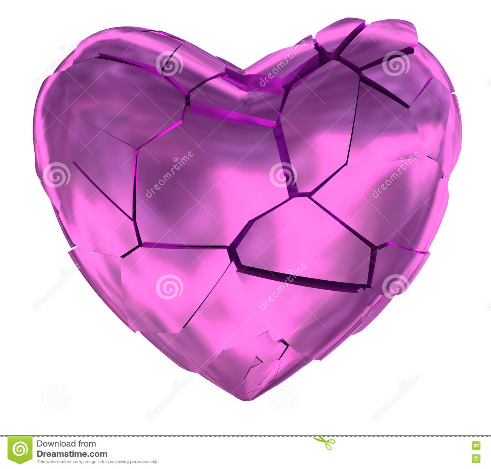 Broken heart glossy pink symbol stock illustration illustration broken heart glossy pink symbol buycottarizona