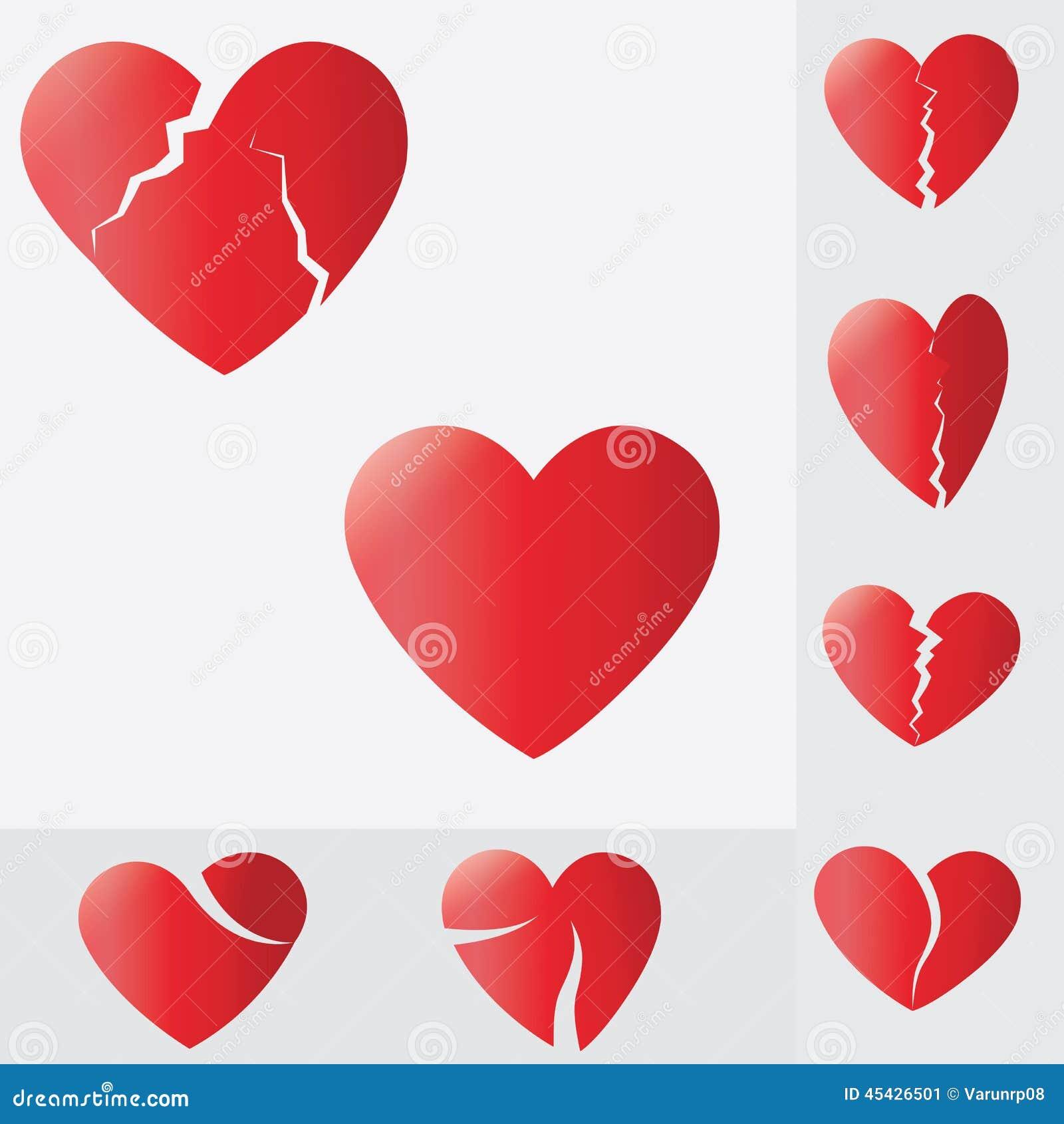Broken heartheart splitting and breaking apart love symbol stock broken heartheart splitting and breaking apart love symbol buycottarizona