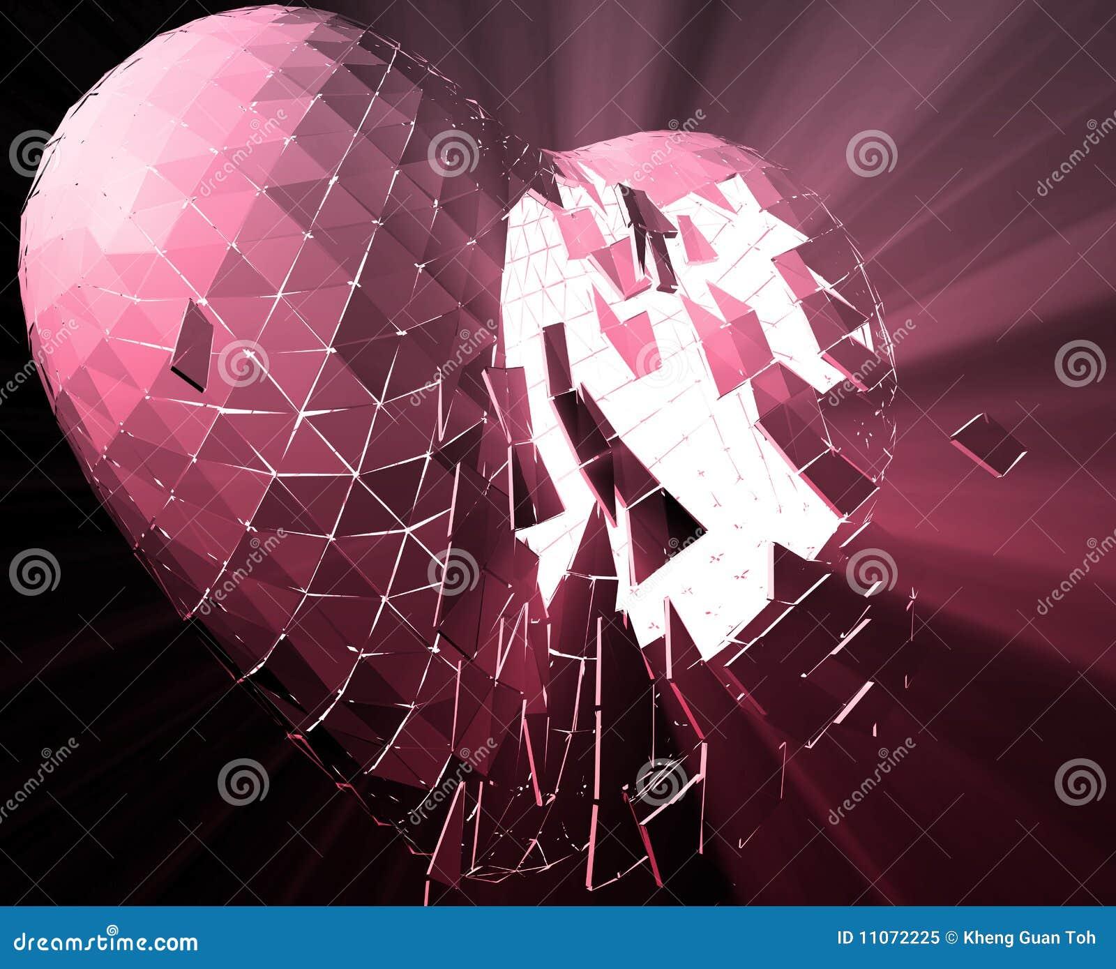 Broken Heart Illustration Stock Illustration Illustration Of