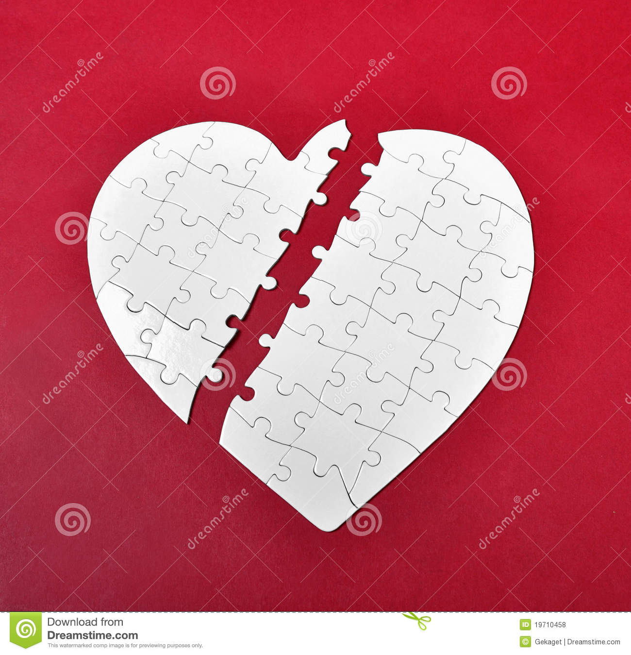 Hand Drawn Cartoon - Crying With A Broken Heart Stock Vector ...