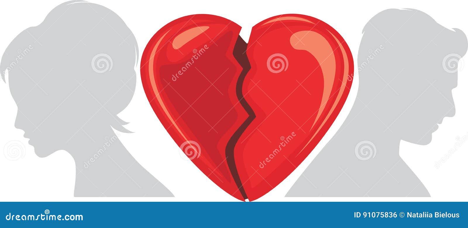 Broken Heart Stock Vector Illustration Of Feeling Beautiful 91075836