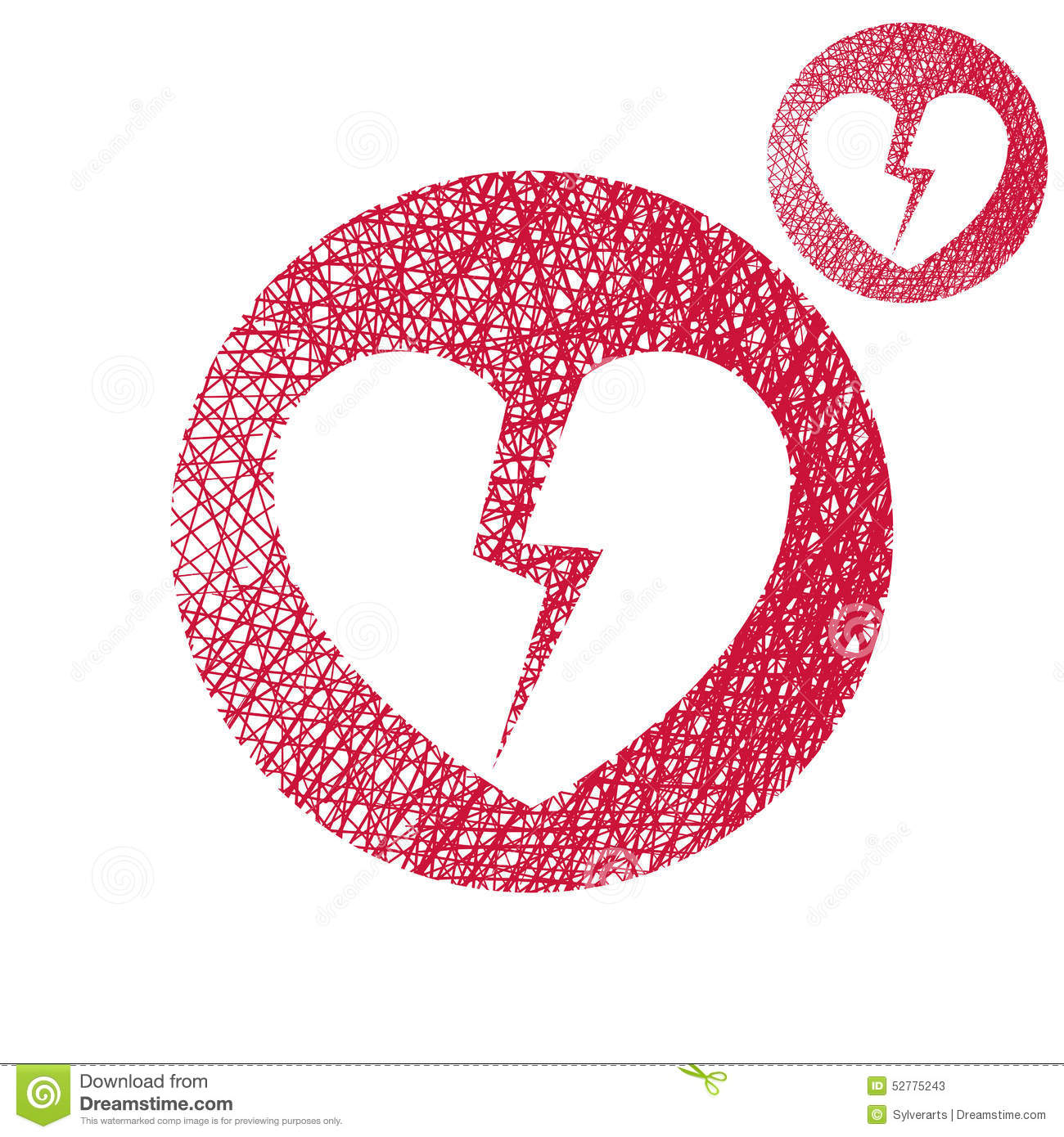 Broken heart vector simple single color icon isolated on for Simple single