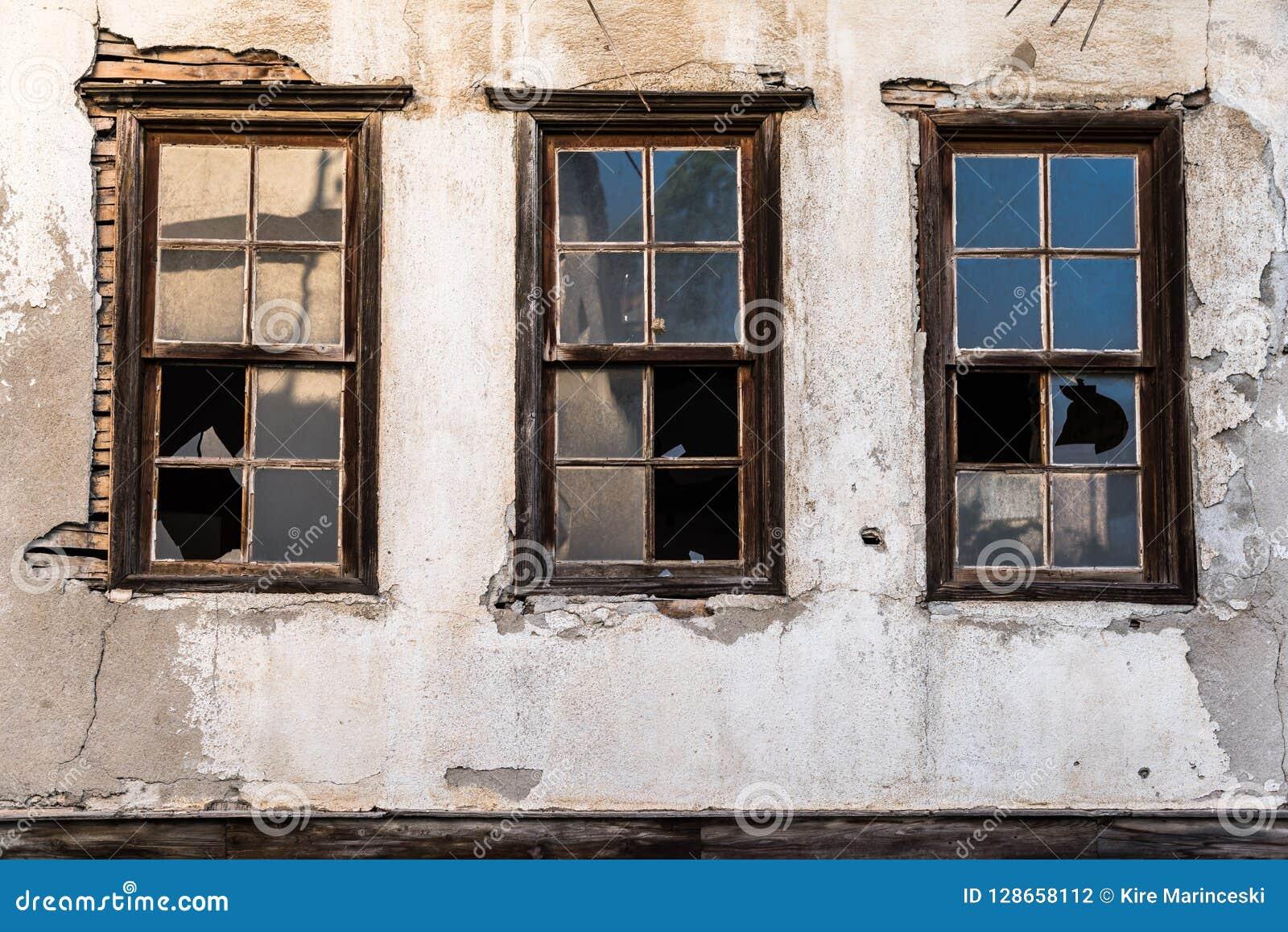 Super Broken House Windows Stock Photo Image Of Crushed Glass Download Free Architecture Designs Itiscsunscenecom