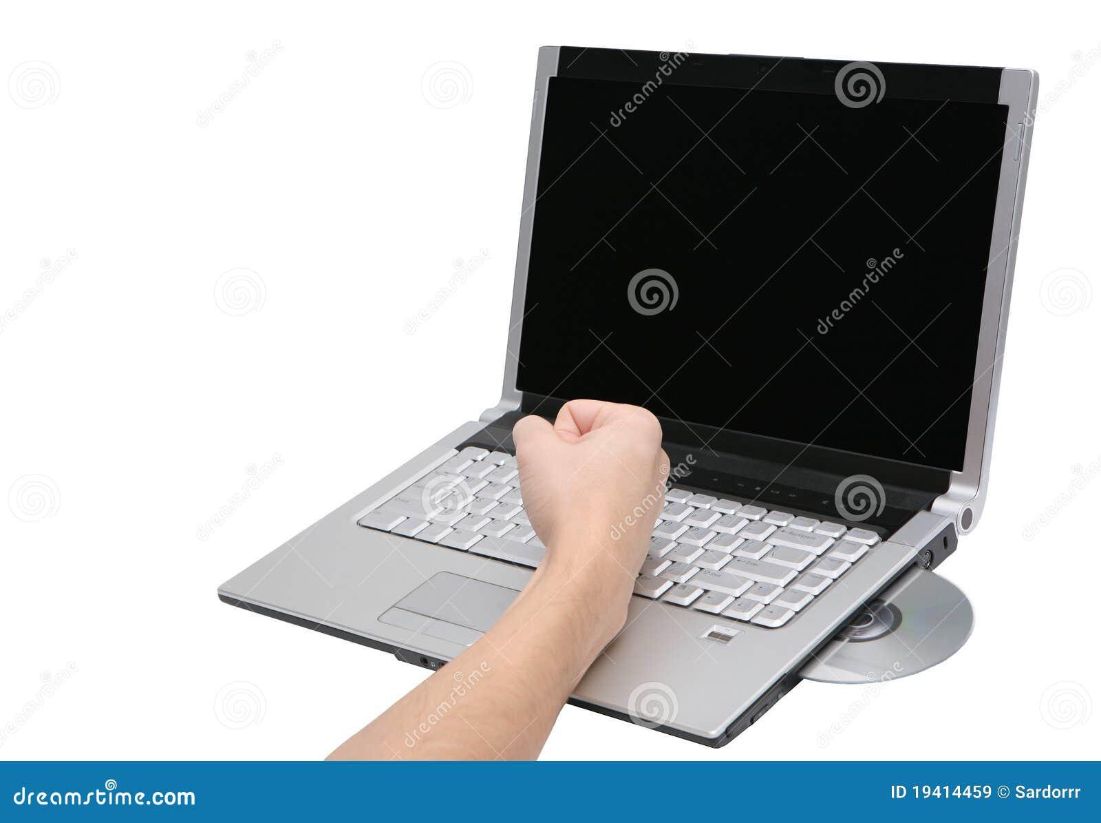 Broken Laptop Computer Royalty Free Stock Images - Image: 19414459