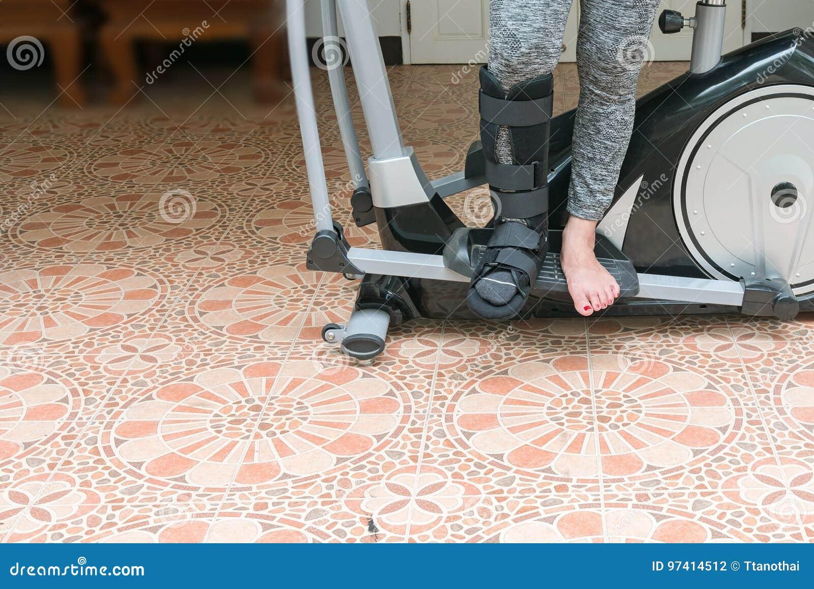 Broken Leg, Short Leg Cast, Splint For Treatment Of Injured