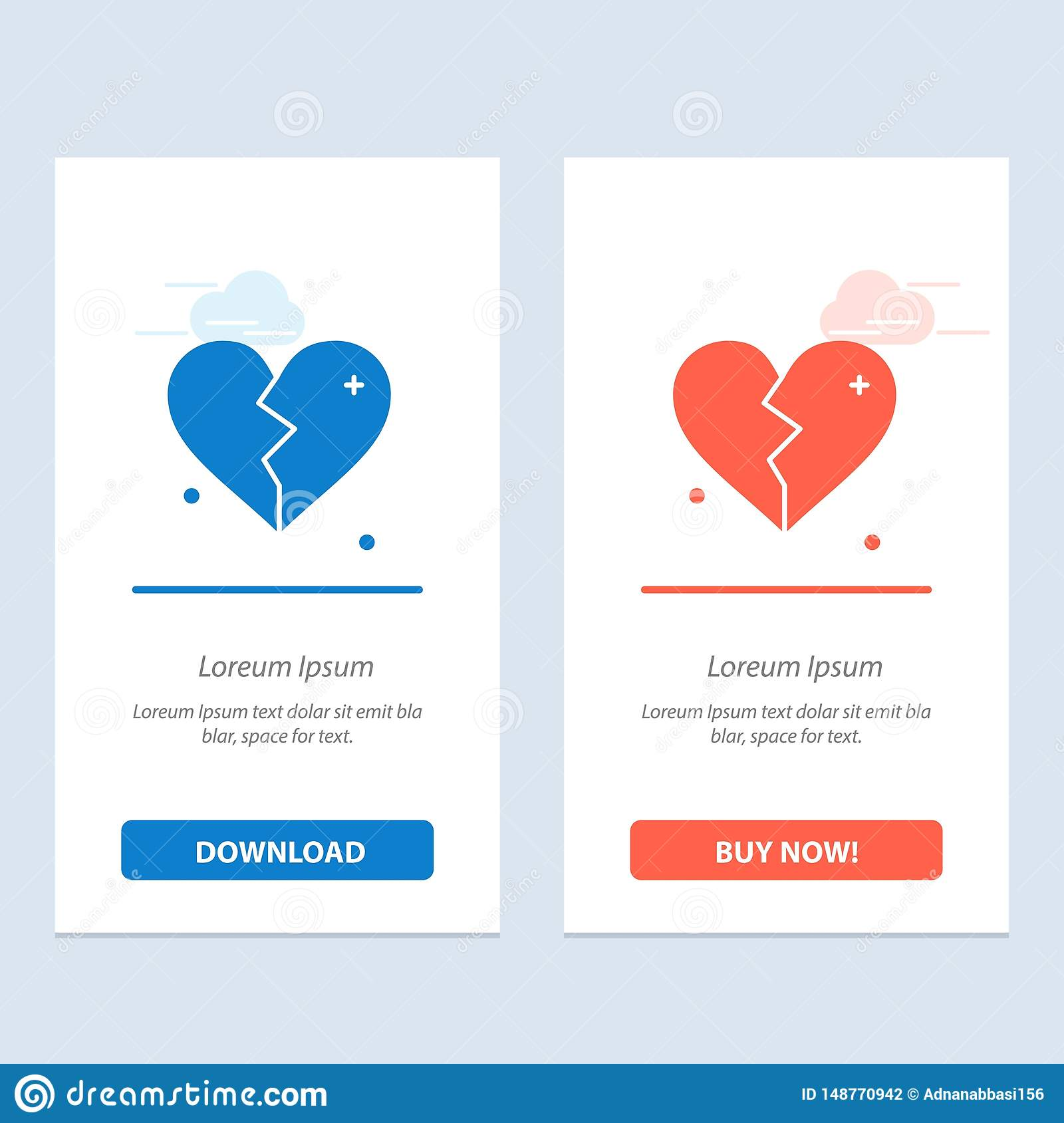 Broken, Love, Heart, Wedding Blue And Red Download And Buy