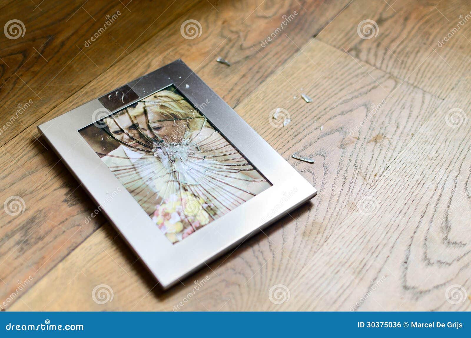 Broken Marriage Photo Frame Divorce Stock Photo Image Of