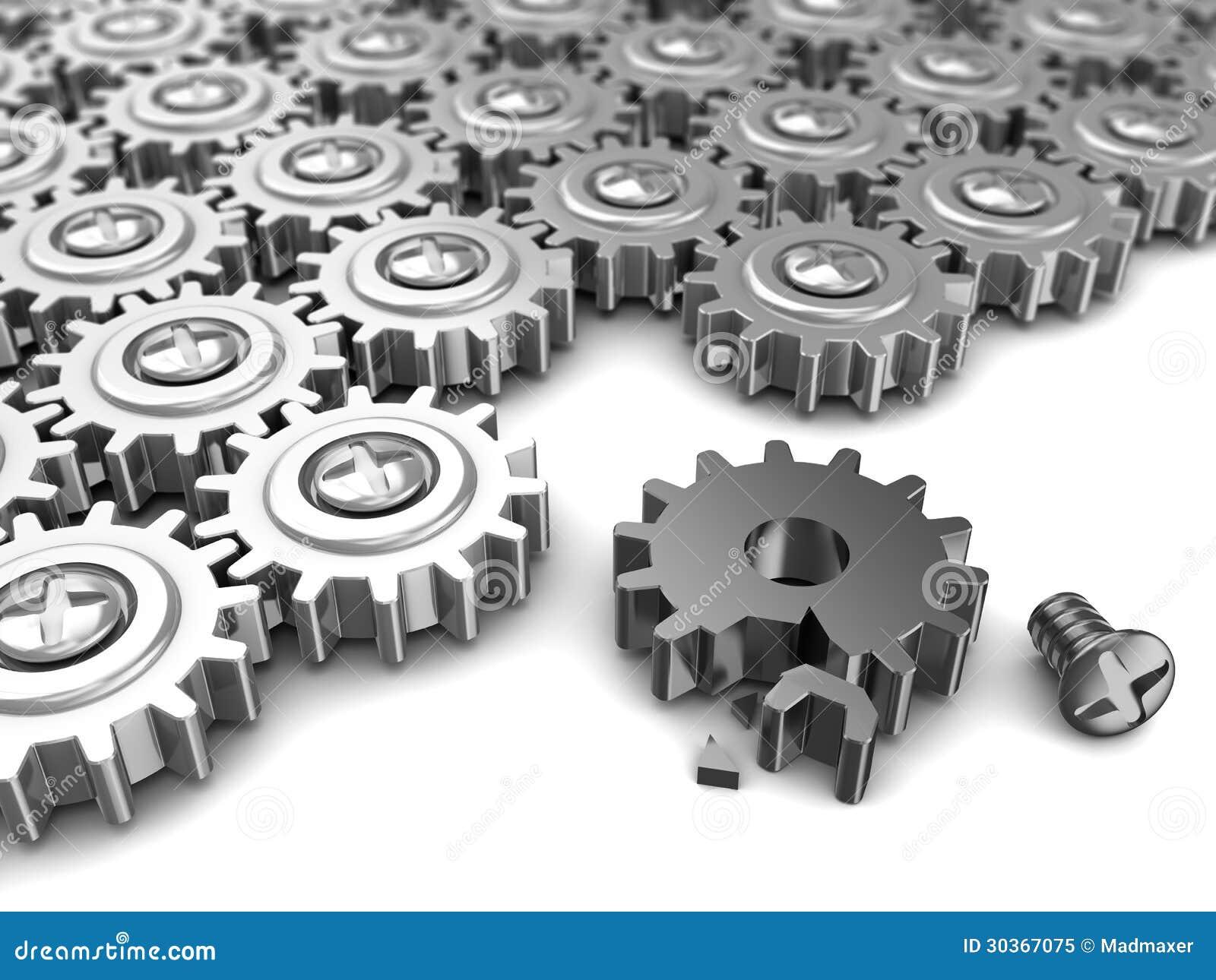 Broken mechanism stock illustration. Illustration of ...