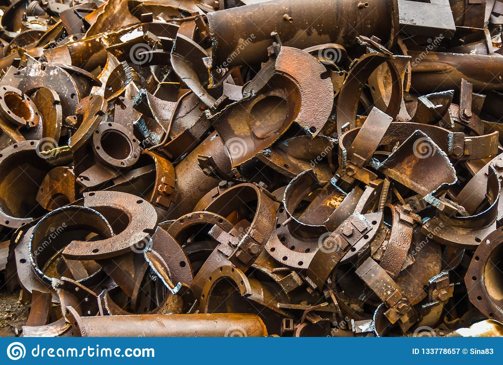 Broken Metal Trash Metallurgy Fabrik In Arbed Luxemburg Stock Image