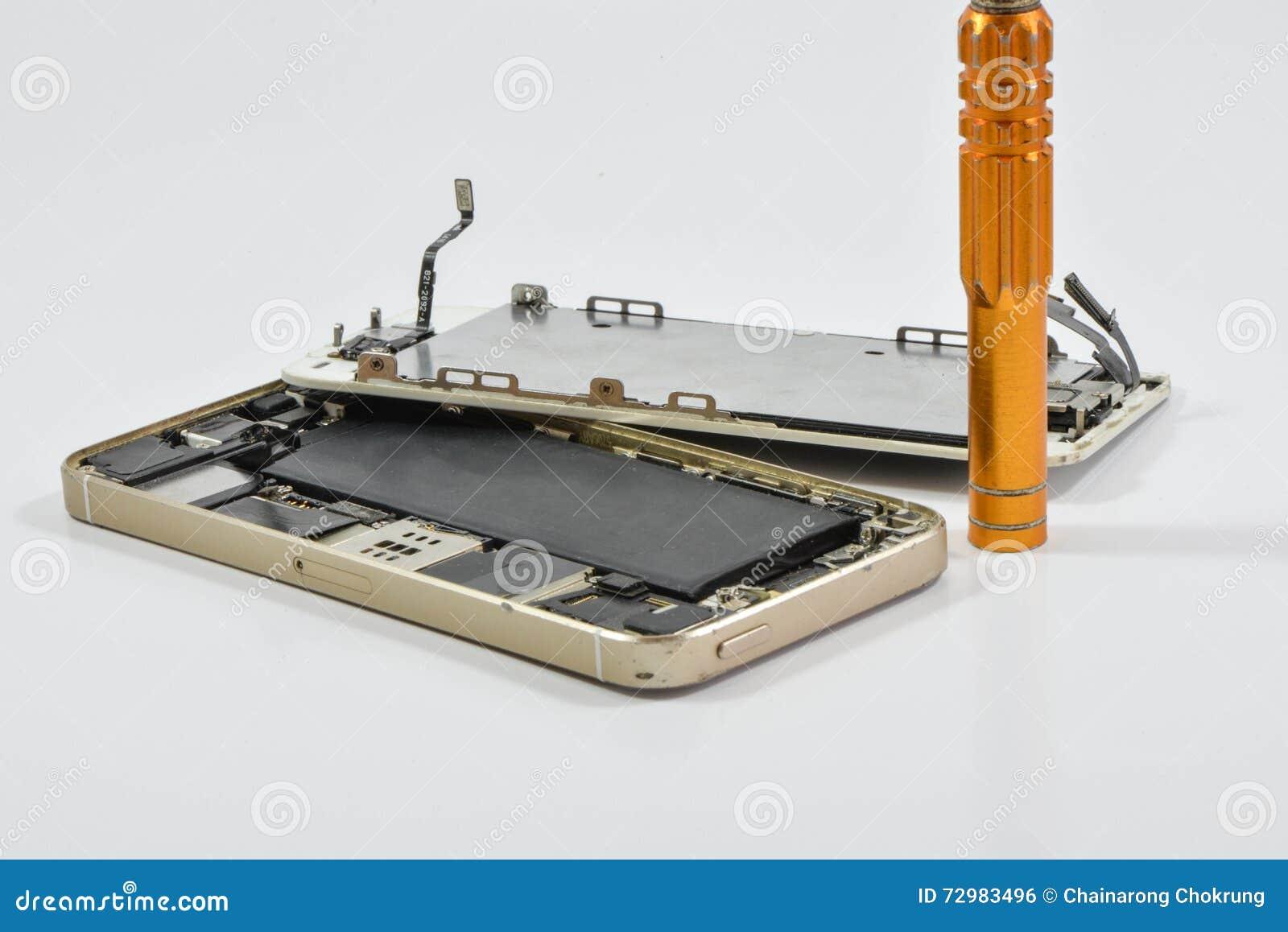 Broken of mobile phone and repair tool
