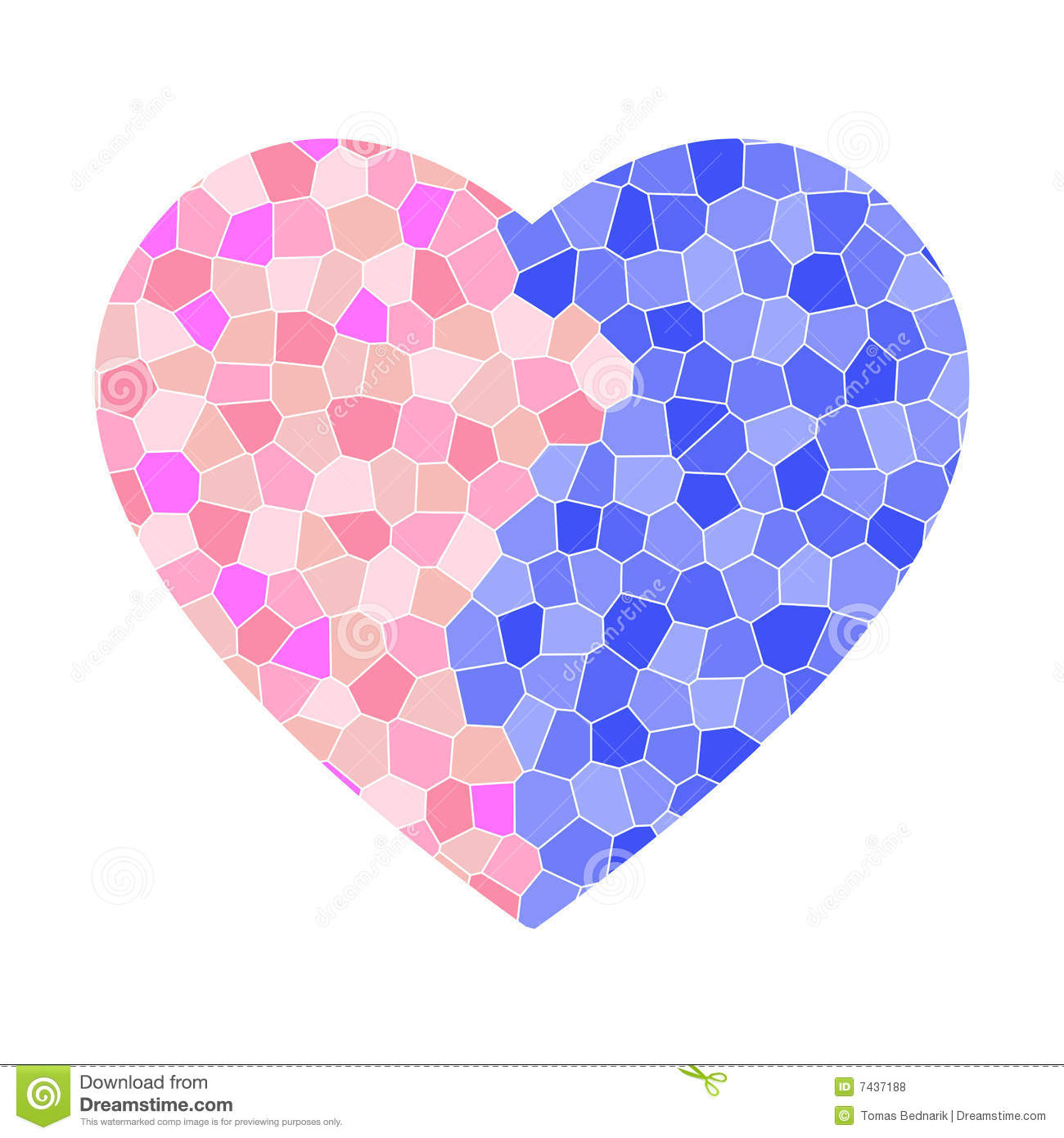 Broken Mosaic Heart Royalty Free Stock Photos - Image: 7437188